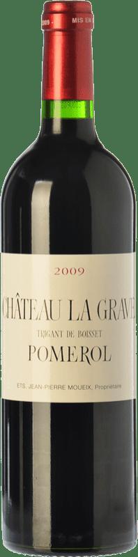 56,95 € Free Shipping | Red wine Château La Grave à Pomerol Crianza A.O.C. Pomerol Bordeaux France Merlot, Cabernet Franc Bottle 75 cl