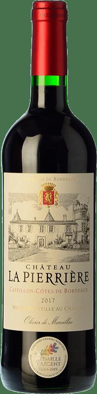 8,95 € Free Shipping | Red wine Château La Pierrière Joven A.O.C. Côtes de Castillon Bordeaux France Merlot, Cabernet Sauvignon, Cabernet Franc Bottle 75 cl