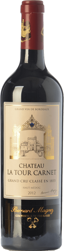 46,95 € | Red wine Château La Tour Carnet Crianza A.O.C. Haut-Médoc Bordeaux France Merlot, Cabernet Sauvignon, Cabernet Franc, Petit Verdot Bottle 75 cl