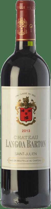 64,95 € Free Shipping | Red wine Château Langoa Barton Crianza A.O.C. Saint-Julien Bordeaux France Merlot, Cabernet Sauvignon, Cabernet Franc Bottle 75 cl