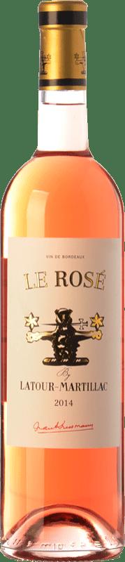 9,95 € Envío gratis | Vino rosado Château Latour-Martillac Le Rosé A.O.C. Bordeaux Rosé Burdeos Francia Cabernet Sauvignon Botella 75 cl