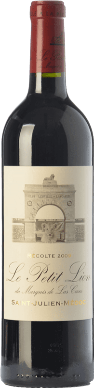 64,95 € Free Shipping | Red wine Château Léoville Las Cases Le Petit Lion A.O.C. Saint-Julien Bordeaux France Merlot, Cabernet Sauvignon Bottle 75 cl