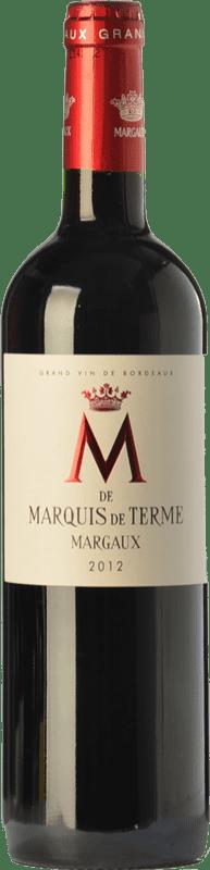 33,95 € | Red wine Château Marquis de Terme M Crianza A.O.C. Margaux Bordeaux France Merlot, Cabernet Sauvignon, Petit Verdot Bottle 75 cl