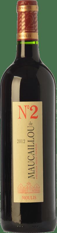 19,95 € Free Shipping | Red wine Château Maucaillou Nº 2 Crianza A.O.C. Moulis-en-Médoc Bordeaux France Merlot, Cabernet Sauvignon, Petit Verdot Bottle 75 cl