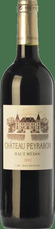 15,95 € Free Shipping | Red wine Château Peyrabon Crianza A.O.C. Haut-Médoc Bordeaux France Merlot, Cabernet Sauvignon, Cabernet Franc, Petit Verdot Bottle 75 cl