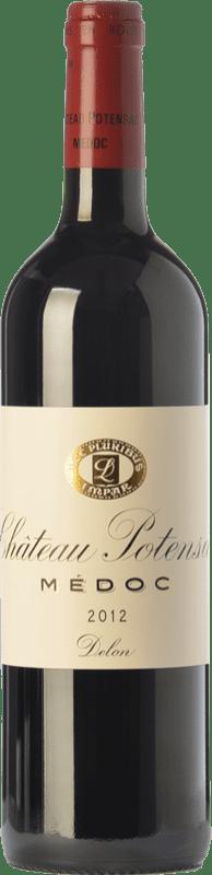 38,95 € Free Shipping | Red wine Château Potensac Crianza A.O.C. Médoc Bordeaux France Merlot, Cabernet Sauvignon, Cabernet Franc, Petit Verdot Bottle 75 cl