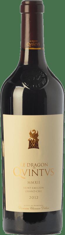 57,95 € Free Shipping | Red wine Château Quintus Le Dragon Crianza A.O.C. Saint-Émilion Grand Cru Bordeaux France Merlot, Cabernet Franc Bottle 75 cl