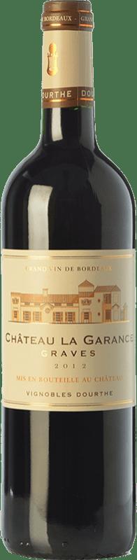 9,95 € Envío gratis | Vino tinto Château Rahoul Château La Garance Joven A.O.C. Graves Burdeos Francia Merlot, Cabernet Sauvignon, Petit Verdot Botella 75 cl