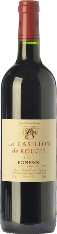 33,95 € Free Shipping | Red wine Château Rouget Le Carillon Crianza A.O.C. Pomerol Bordeaux France Merlot, Cabernet Franc Bottle 75 cl
