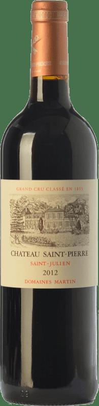 79,95 € Free Shipping | Red wine Château Saint-Pierre Crianza A.O.C. Saint-Julien Bordeaux France Merlot, Cabernet Sauvignon Bottle 75 cl