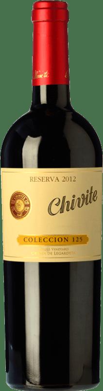 26,95 € 免费送货 | 红酒 Chivite Colección 125 Reserva D.O. Navarra 纳瓦拉 西班牙 Tempranillo 瓶子 75 cl