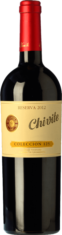22,95 € Free Shipping | Red wine Chivite Colección 125 Reserva D.O. Navarra Navarre Spain Tempranillo Bottle 75 cl