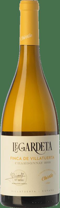 16,95 € Envío gratis | Vino blanco Chivite Legardeta Finca de Villatuerta Crianza D.O. Navarra Navarra España Chardonnay Botella 75 cl