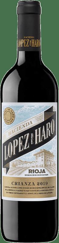 6,95 € 免费送货 | 红酒 Classica Hacienda López de Haro Crianza D.O.Ca. Rioja 拉里奥哈 西班牙 Tempranillo, Grenache, Graciano 瓶子 75 cl