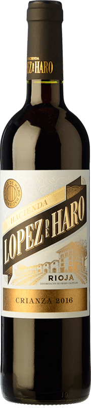 6,95 € | Red wine Classica Hacienda López de Haro Crianza D.O.Ca. Rioja The Rioja Spain Tempranillo, Grenache, Graciano Bottle 75 cl