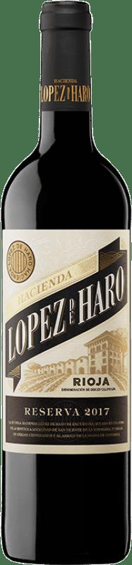 11,95 € 免费送货 | 红酒 Classica Hacienda López de Haro Reserva D.O.Ca. Rioja 拉里奥哈 西班牙 Tempranillo, Graciano 瓶子 75 cl