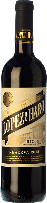 11,95 € | Red wine Classica Hacienda López de Haro Reserva D.O.Ca. Rioja The Rioja Spain Tempranillo, Graciano Bottle 75 cl