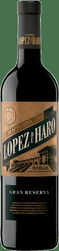 16,95 € 免费送货 | 红酒 Classica Hacienda López de Haro Gran Reserva D.O.Ca. Rioja 拉里奥哈 西班牙 Tempranillo, Graciano 瓶子 75 cl