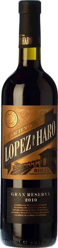 16,95 € Free Shipping | Red wine Classica Hacienda López de Haro Gran Reserva D.O.Ca. Rioja The Rioja Spain Tempranillo, Graciano Bottle 75 cl