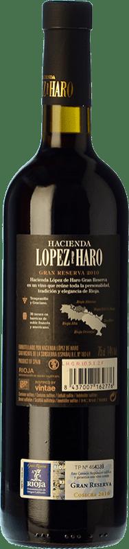 15,95 € Free Shipping | Red wine Classica Hacienda López de Haro Gran Reserva D.O.Ca. Rioja The Rioja Spain Tempranillo, Graciano Bottle 75 cl