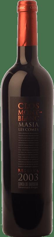 21,95 € | Red wine Clos Montblanc Masia Les Comes Crianza D.O. Conca de Barberà Catalonia Spain Merlot, Cabernet Sauvignon Bottle 75 cl
