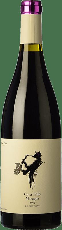 15,95 € Envío gratis | Vino tinto Coca i Fitó Jaspi Maragda Crianza D.O. Montsant Cataluña España Syrah, Garnacha, Cabernet Sauvignon, Cariñena Botella Mágnum 1,5 L