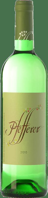 12,95 € Free Shipping | White wine Colterenzio Pfefferer I.G.T. Vigneti delle Dolomiti Trentino Italy Muscat Giallo Bottle 75 cl