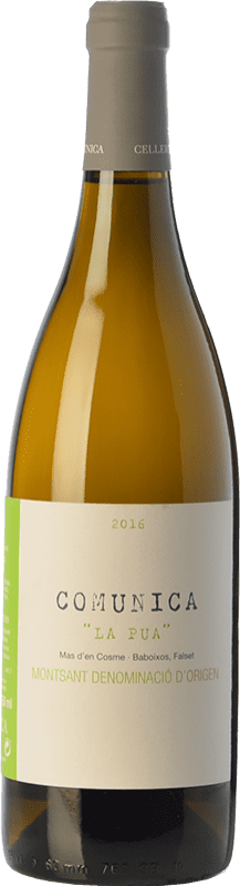 16,95 € Free Shipping | White wine Comunica La Pua D.O. Montsant Catalonia Spain Grenache, Grenache White Bottle 75 cl