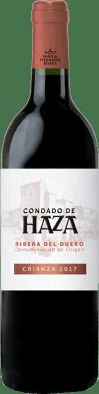 14,95 € Envío gratis | Vino tinto Condado de Haza Crianza D.O. Ribera del Duero Castilla y León España Tempranillo Botella 75 cl