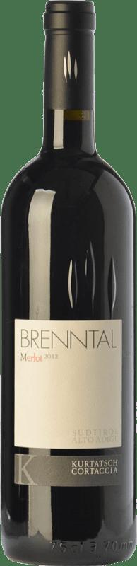 45,95 € Free Shipping | Red wine Cortaccia Brenntal D.O.C. Alto Adige Trentino-Alto Adige Italy Merlot Bottle 75 cl
