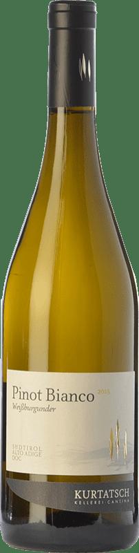13,95 € Free Shipping | White wine Cortaccia Pinot Bianco D.O.C. Alto Adige Trentino-Alto Adige Italy Pinot White Bottle 75 cl