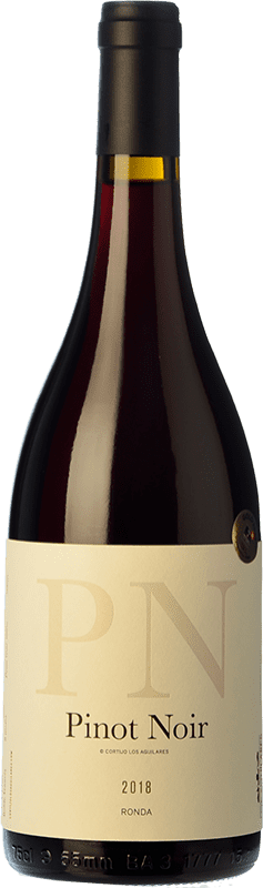 36,95 € Free Shipping | Red wine Los Aguilares Joven D.O. Sierras de Málaga Andalusia Spain Pinot Black Bottle 75 cl