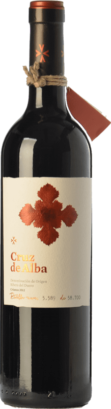 16,95 € Free Shipping | Red wine Cruz De Alba Crianza D.O. Ribera del Duero Castilla y León Spain Tempranillo Bottle 75 cl