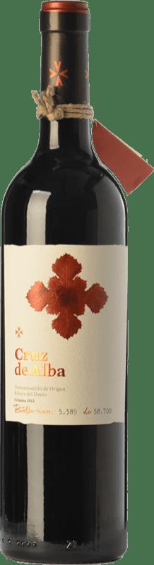 16,95 € Envoi gratuit | Vin rouge Cruz De Alba Crianza D.O. Ribera del Duero Castille et Leon Espagne Tempranillo Bouteille 75 cl