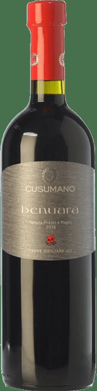 11,95 € Free Shipping | Red wine Cusumano Benuara I.G.T. Terre Siciliane Sicily Italy Syrah, Nero d'Avola Bottle 75 cl