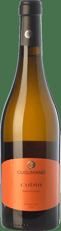 16,95 € Free Shipping | White wine Cusumano Cubìa I.G.T. Terre Siciliane Sicily Italy Insolia Bottle 75 cl