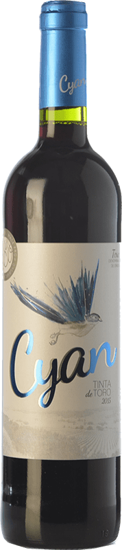 8,95 € Free Shipping | Red wine Cyan 6 Meses Roble D.O. Toro Castilla y León Spain Tinta de Toro Bottle 75 cl