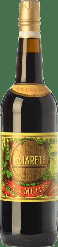 72,95 € Envío gratis | Vino dulce De Muller Pajarete Augusto Solera 1851 D.O. Tarragona Cataluña España Garnacha, Garnacha Blanca, Moscatel de Alejandría Botella 75 cl