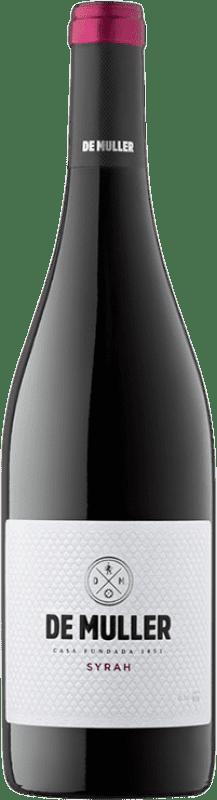 9,95 € Envío gratis | Vino tinto De Muller Joven D.O. Tarragona Cataluña España Syrah Botella 75 cl