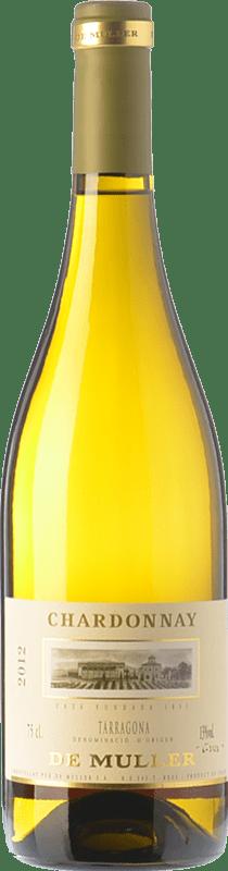 9,95 € Envío gratis | Vino blanco De Muller Crianza D.O. Tarragona Cataluña España Chardonnay Botella 75 cl