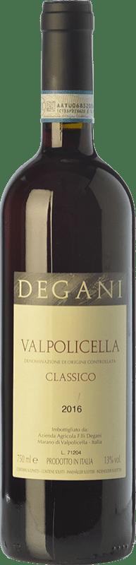 9,95 € Envoi gratuit | Vin rouge Degani Classico D.O.C. Valpolicella Vénétie Italie Corvina, Rondinella, Corvinone Bouteille 75 cl