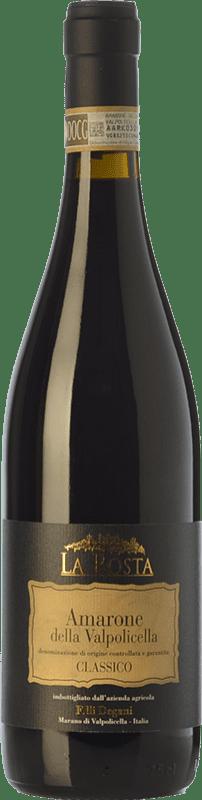 37,95 € | Red wine Degani La Rosta D.O.C.G. Amarone della Valpolicella Veneto Italy Corvina, Rondinella, Molinara, Oseleta Bottle 75 cl
