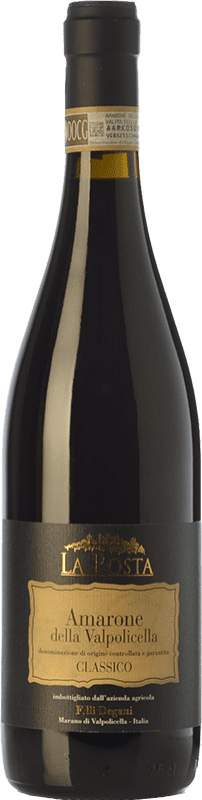 38,95 € Envío gratis | Vino tinto Degani La Rosta D.O.C.G. Amarone della Valpolicella Veneto Italia Corvina, Rondinella, Molinara, Oseleta Botella 75 cl