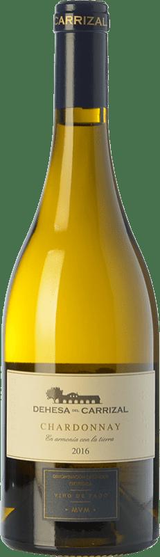 22,95 € Free Shipping | White wine Dehesa del Carrizal Crianza D.O.P. Vino de Pago Dehesa del Carrizal Castilla la Mancha Spain Chardonnay Bottle 75 cl
