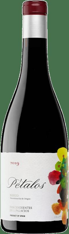 16,95 € 免费送货 | 红酒 Descendientes J. Palacios Pétalos Joven D.O. Bierzo 卡斯蒂利亚莱昂 西班牙 Mencía, Grenache Tintorera 瓶子 75 cl