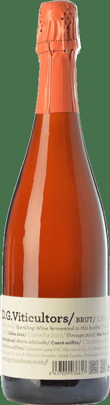 15,95 € Free Shipping | Rosé sparkling DG Rosé Brut Reserva D.O. Cava Catalonia Spain Pinot Black Bottle 75 cl