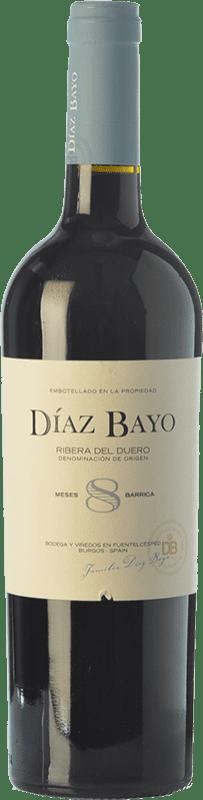 11,95 € Free Shipping | Red wine Díaz Bayo Nuestro Roble D.O. Ribera del Duero Castilla y León Spain Tempranillo Bottle 75 cl