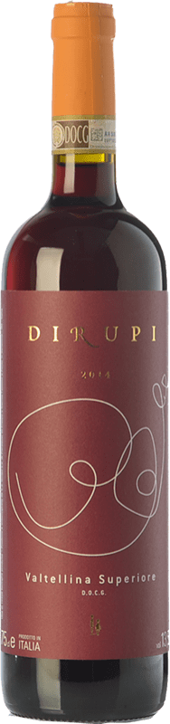 25,95 € Free Shipping | Red wine Dirupi D.O.C.G. Valtellina Superiore Lombardia Italy Nebbiolo Bottle 75 cl