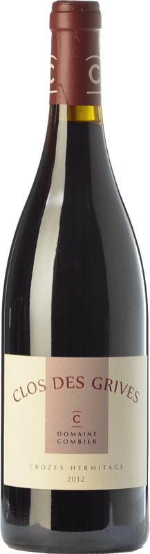41,95 € Free Shipping | Red wine Domaine Combier Clos des Grives Rouge Crianza A.O.C. Crozes-Hermitage Rhône France Syrah Bottle 75 cl
