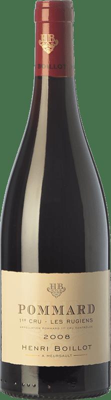 73,95 € 免费送货   红酒 Domaine Henri Boillot Premier Cru Les Rugiens Crianza 2008 A.O.C. Pommard 勃艮第 法国 Pinot Black 瓶子 75 cl
